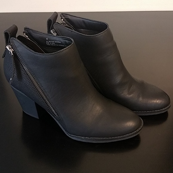 243b2378798d DV for Target Shoes - Target DV Jameson Double Zip Black Ankle Booties